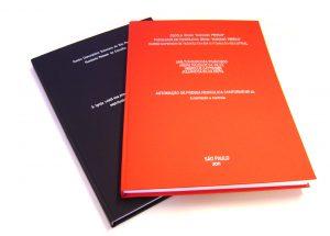 Encadernação capa dura, encadernaç~TCC, encadernação monografia, capa preta com letras douradas, brochura, tese, mestrado