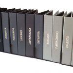 Pastas fichario personalizadas para organizar documentos, contas, arquivos