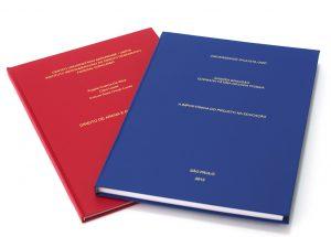encadernação TCC monografias teses trabalho conclusão de curso
